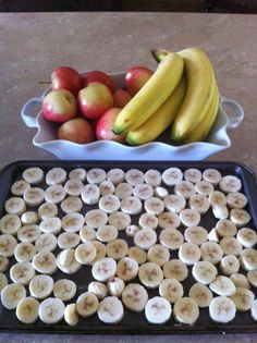 Yummy Nutribullet foods.  I slice my bananas and freeze them separately.  After they are frozen, I bag them up in baggies and and store in my freezer. :)