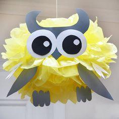 Owl  Tissue Paper Pom Pom Animal Kit by PomLeMoose on Etsy
