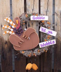 Turkey Wreath Wood Craft Pattern For Fall And Thanksgiving