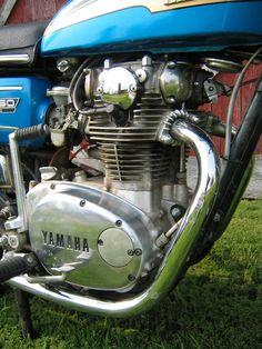 1973 Yamaha TX-650 Engine Right Side