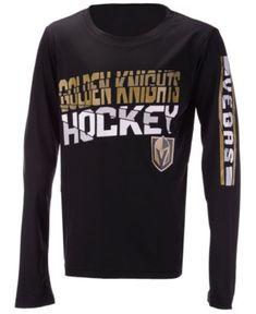 Outerstuff Vegas Golden Knights Break Lines Long Sleeve T-Shirt b9d88da08
