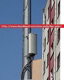 Beylikduzu nde gsm baz istasyonu montaji; aydinlatma diregi (lampost) uzerinde baz istasyonu montaj gorseli, baz istasyonu resim, base station image, base station news, baz istasyonu haberleri / baz istasyonu | www.bazsikayet.com