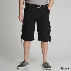 N Xray Jeans Men's Belted Cargo Shorts