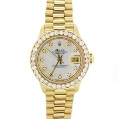 Ladies Rolex President 69178 18k Gold Diamond dial & Diamond bezel Watch. Get the lowest price on Ladies Rolex President 69178 18k Gold Diamond dial & Diamond bezel Watch and other fabulous designer clothing and accessories! Shop Tradesy now