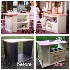 Original Pinner Wrote My Idea Was To Make A DIY Play Kitchen For Sweet Lil Girl But Then I Inspired By This American Doll Ice Cream Parlor
