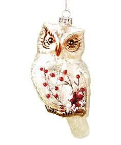 Take a look at this Owl Glass Ornament by Roman, Inc. on today! Bohemian Christmas, Christmas Bird, Christmas Tree Themes, Country Christmas, Xmas Decorations, Christmas Stuff, Owl Ornament, Bird Ornaments, Glass Christmas Ornaments