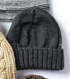 Knit A Men's Basic Hat and Scarf Set