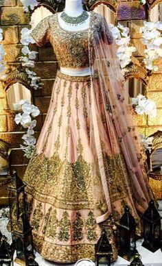 An exquisite bridal lengha by #WellgroomedInc! #Bridal #Lengha #Wedding