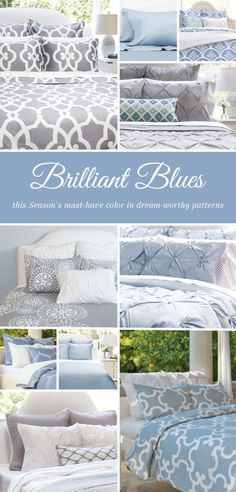 From chic bedding and beautiful statement duvet covers, find the luxury bedding that fits your modern home. Named the best site for bedding by HGTV. Chic Bedding, Duvet Bedding, Luxury Bedding, Bedding Sets, Blue Bedroom, Bedroom Colors, Master Bedroom, Bedroom Ideas, Decoration Bedroom