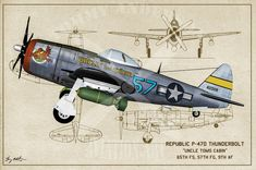 USAAF Fighter Aircraft- Blueprint Series - Tommy Anderson Publishing and Photography Ww2 Fighter Planes, Fighter Aircraft, Fighter Jets, Aviation World, Aviation Art, Aviation Tattoo, Ww2 Aircraft, Military Aircraft, Airplane Painting