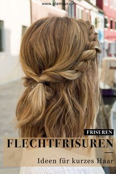 Unique hairstyles for shoulder-length hair ., Unique hairstyles for shoulder-length hair . - Trendfrisuren Chad, akkurater Mittelscheitel oder People from france Minimize Die. Medium Length Hair With Layers, Mid Length Hair, Styling Shoulder Length Hair, Shoulder Hair Styles, Medium Length Hair Braids, Shoulder Length Updo, Easy Hairstyles For School, Great Hairstyles, Wedding Hairstyles