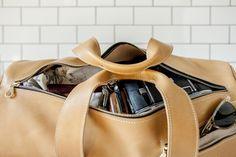 Scholar MFG. Overnight Duffle Bag in Honey: #scholarmfg #smfg