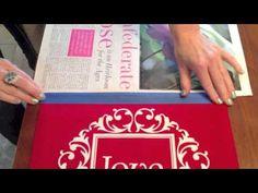 Inger Erickson for Uppercase Living - Vinyl On Fabric