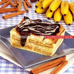 Receita de Pavê de banana