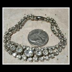Selling this VINTAGE CRYSTAL BRACELET in my Poshmark closet! My username is: rdomal. #shopmycloset #poshmark #fashion #shopping #style #forsale #vintage  #Jewelry