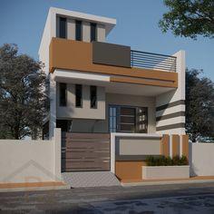 Building Elevation, House Elevation, Front Elevation, Modern Exterior House Designs, Exterior Design, Render Design, Interior Work, House Front Design, Home Room Design