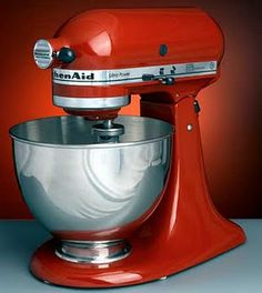 KitchenAid mixer. I so want one!... and someone to cook for me too!