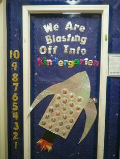 My may door, Kindergarten, space bulletin board, door