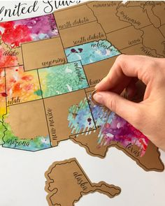 50 states photo map usa 50 states 50th and photo charms been there scratched that united states of america usa us watercolor scratch map negle Gallery