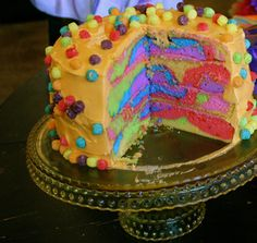 colorful cake, really nice #food #unique #child