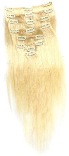 100% Real Human Hair 120g 24' Full Head Clip in HairPieces Brazilian Virgin Remy Hair Extensions Silky Straight Double Weft Weave no.613 Pre Bleach Blonde 1pk >>> Continue to the product at the image link. (Note:Amazon affiliate link)