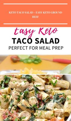 These easy keto meal prep ground beef taco salads are low carb and a quick recipe to follow. You can really add whatever taco toppings you'd prefer, however, to keep it Keto I'd stay away from corn and go easy on the black beans if you decide to add those. The best Keto friendly Taco toppings are Cheddar cheese, Avocado/guacamole, Shredded lettuce, Jalapeno, Onions, Bell peppers, Sour cream, Cilantro. Try out these keto taco bowls with your favorite taco toppings #salad #recipe #easydinner… Keto Taco Salad, Taco Salads, Quick Recipes, Keto Recipes, Avocado Guacamole, Ground Beef Tacos, Taco Bowls, Keto Meal, Black Beans