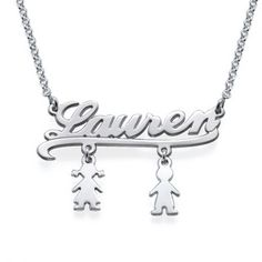 Mummy Name Necklace with Kids Charms $33.59