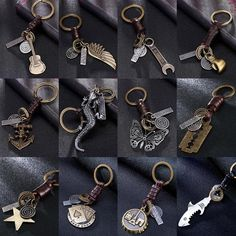 Devoted 1pc Bag Accessories Novelty 15 Colors Key Holder Braided Leather Keychain Car Auto Keyring Luggage & Bags