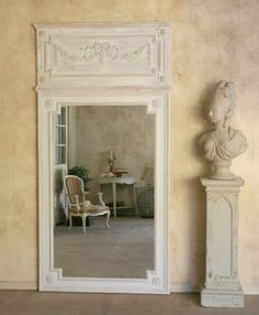french country cottage  French Country decorating Trumeau French Antique Mirror