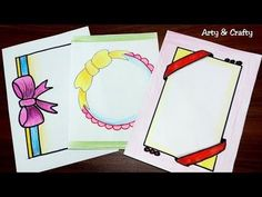 Ribbon Draw | Border Design on Paper | Designs for Front Page | Border for Project by Arty & Crafty - YouTube