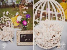 :: lavendar-scented sachets as party favors :: kinda cute idea..