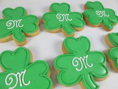 Irish wedding reception shamrock cookies