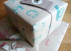 Festival party faces wrapping paper