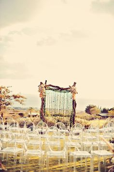 outdoor rustic wedding seating