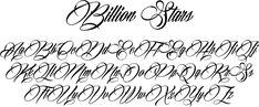 Billion Stars Font by Måns Grebäck : Font Bros Memorial Tattoos, Tattoo Fonts, Lettering, Stars, Handwritting, Aztec, Ideas For Drawing, Diy Dog, Tattoo