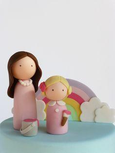 Este bolo amoroso foi criado para uma mãe e filha que celebraram juntas mais um aniversário. This lovely cake was created to celebra...
