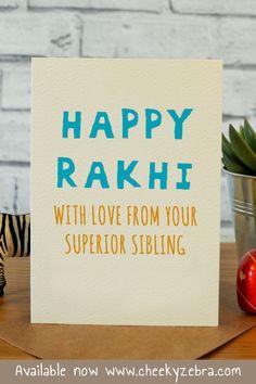 Funny rakhi and raksha bandhan cards to make your brohter laugh this year! We also have a limited number of rakhis which you can add to your order. #rakhicard #rakshabandhan Rakhi Greetings, Raksha Bandhan Cards, Rakhi Cards, Happy Rakhi, Your Brother, Kraft Envelopes, Blank Cards, Siblings, Card Making