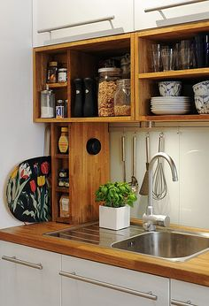 kitchen cupboard. earthy and sophisticated.