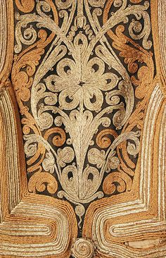 (detail) Coat 19th century Greek , wool, silk, metallic