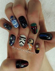 Day 360: The Force Awakens Nail Art