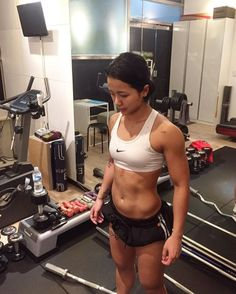 Song ga Yeon abs and muscles just her workout