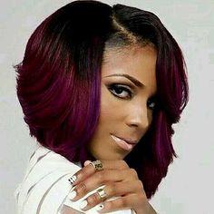 Bob Hairstyles For Black Women cute bob haircut for black women Short Ombre Bob Weave Styles For Black Women