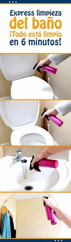 Express limpieza del baño. ¡Todo está limpio en 6 minutos! #rutina #diaria #limpieza #baño #express