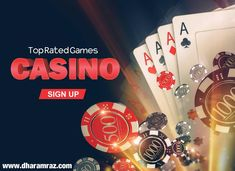 Experience the thrills of top rated casino games that can only be found at dharamraz. Play blackjack, roulette, slots and grab special welcome bonus offers on each game play. Play Now https://bit.ly/2rpIBEF #onlinecasinogames #onlinecasinobonus #onlinecasino #poker #roulette #blackjack #slots #bingo #spins #Dharamraz
