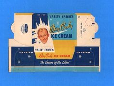 1953 Bing Crosby Ice Cream - Vintage Advertising