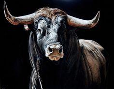 Camarito + of + straw - Modern Animal Paintings, Animal Drawings, Farm Animals, Animals And Pets, Bull Pictures, Bull Painting, Taurus Bull, Bull Tattoos, Cow Art