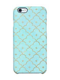 Quatrefoil Scales Mint iPhone 6 Plus SS Deflector Case by Uncommon at Gilt