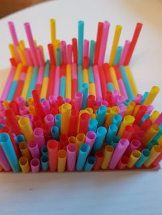 Straw-art, so funny for the  children.