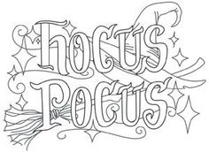 Tricks & Treats - Hocus Pocus | Urban Threads: Unique and Awesome Embroidery Designs