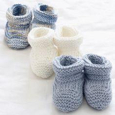 Basic Baby Booties | AllFreeKnitting.com